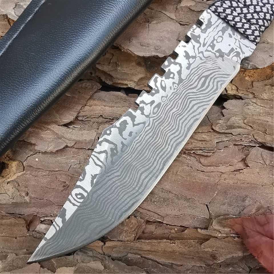 サバイバルナイフ ダマスカスパターン