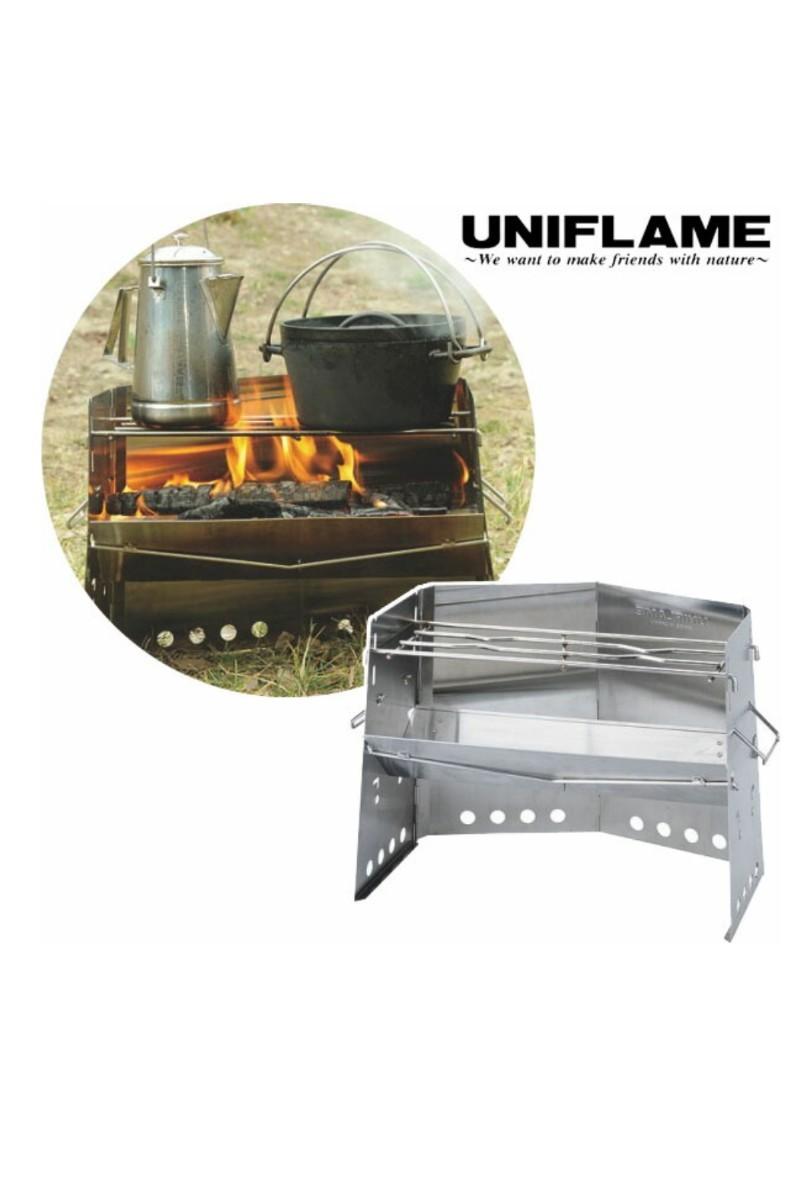 UNIFLAME 薪グリル 682906 ユニフレーム UNIFLAME 薪グリル 焚き火台 焚火台 キャンプ 薪 BBQ