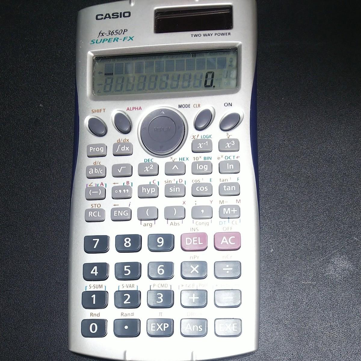 CASIO カシオ 関数電卓 fx-3650p SUPER-FX