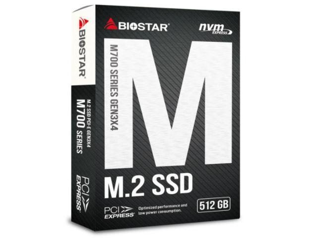 新品未開封 BIOSTAR 内蔵SSD 512GB TLC NAND NVMe/PCIe M.2 2280 M700-512GB