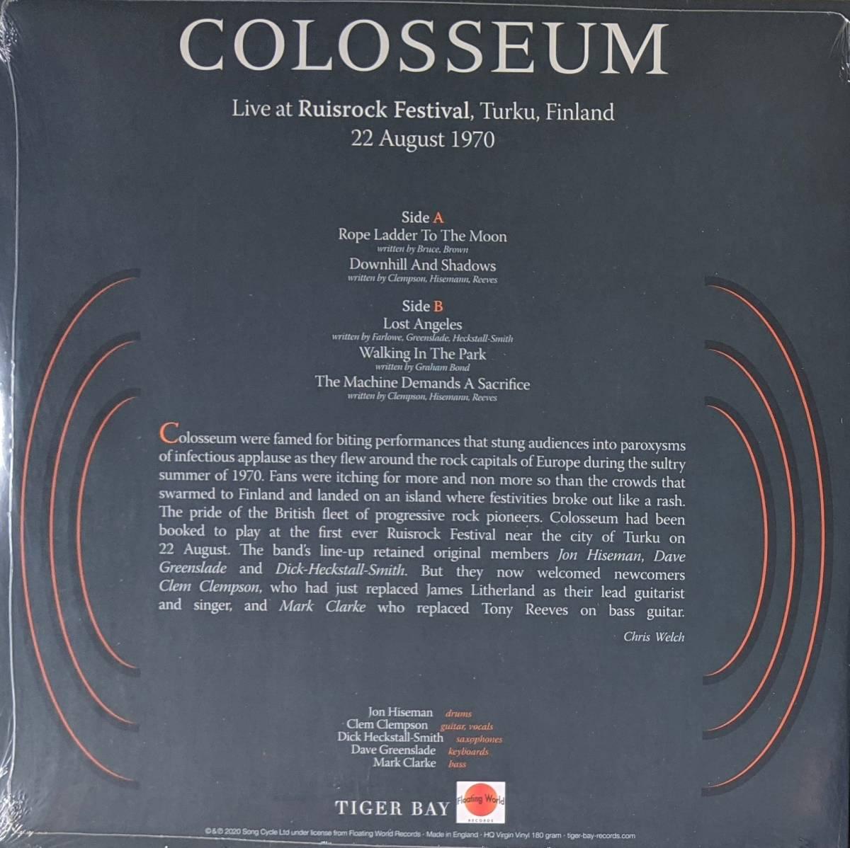 Colosseum コロシアム - Live At Ruisrock Festival, Turku, Finland 22 August 1970 限定リマスター再発アナログ・レコード