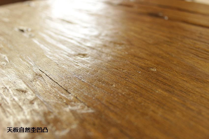 『癒し』アンティーク*チーク古木自然杢*オールドチーク*無垢*レトロ*ナチュラルインテリア*飾り棚*店舗什器*凹凸杢■天板円形2段引き棚_画像10