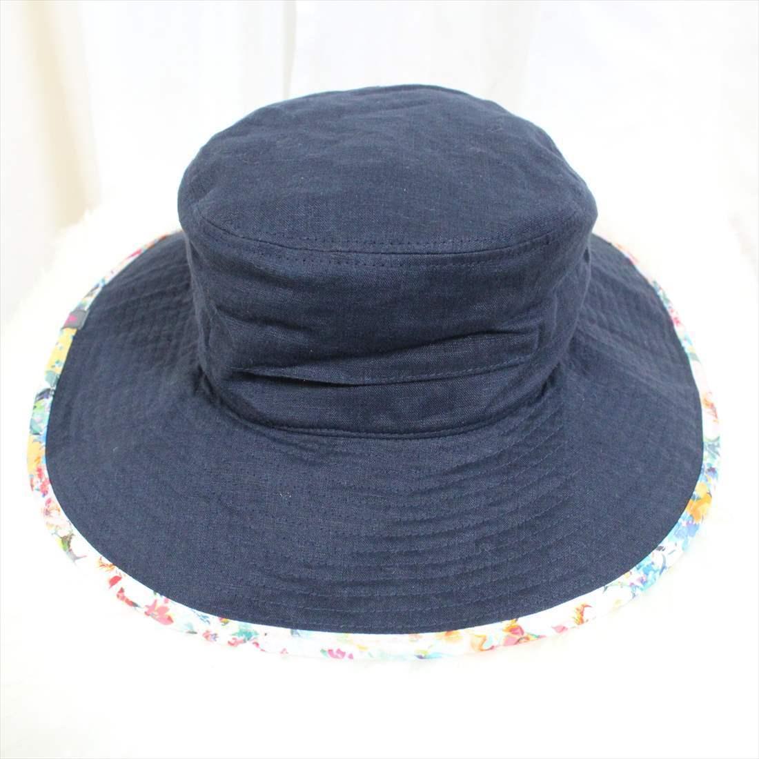 フェニックス phenix 麻 ハット 新品 帽子 BROAD BRIMMED HAT レディース ネイビー PH928HW66 アウトレット_画像1