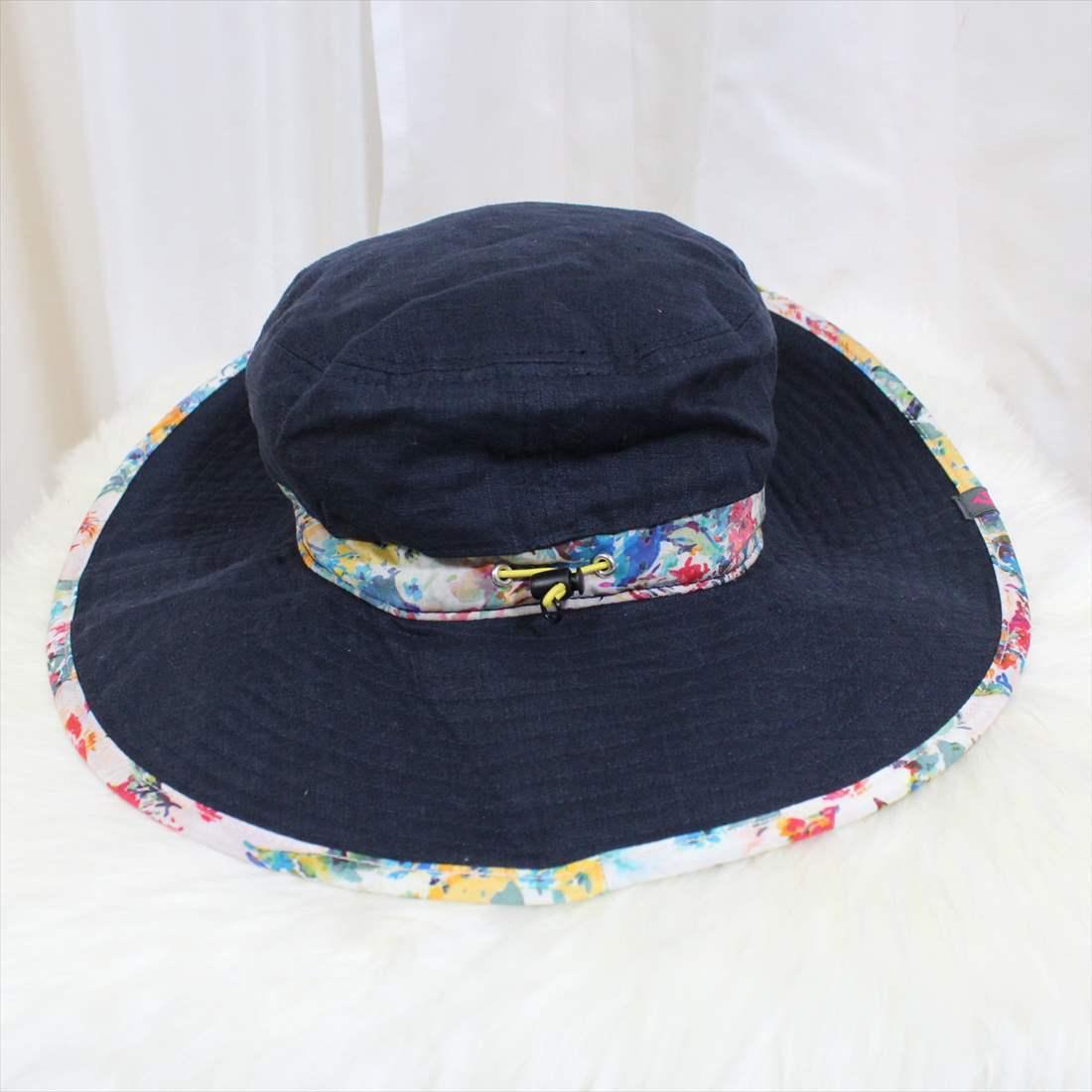 フェニックス phenix 麻 ハット 新品 帽子 BROAD BRIMMED HAT レディース ネイビー PH928HW66 アウトレット_画像3