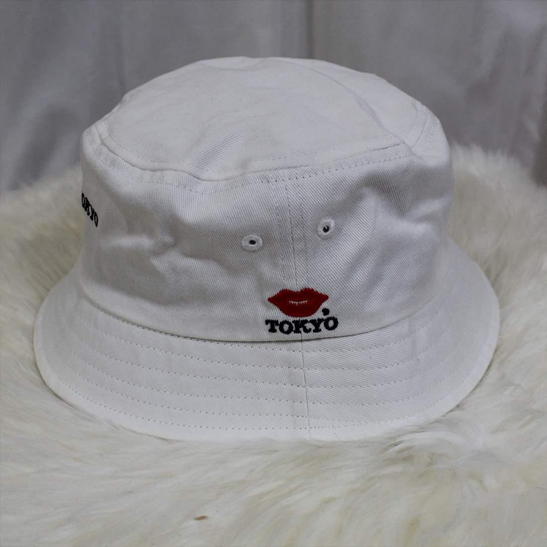 KISS TOKYO LIP LOGO HAT ロゴ刺繍 ホワイト ハット 新品 白 帽子_画像2