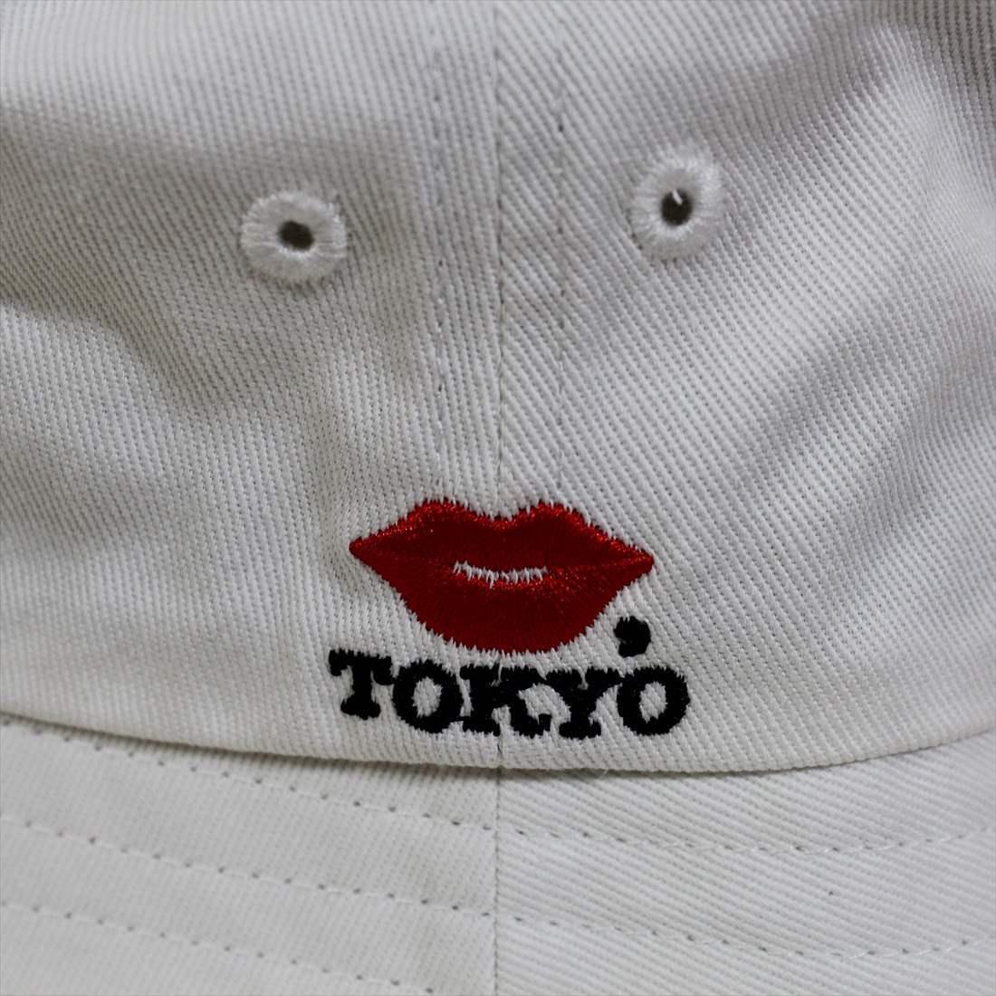 KISS TOKYO LIP LOGO HAT ロゴ刺繍 ホワイト ハット 新品 白 帽子_画像3