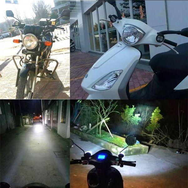 ☆お勧めします☆オートバイ 8ワット 8W LED ヘッドライト バイク スクーター ランプ フォグ ランニングライト スポットライト 汎用品 _画像5