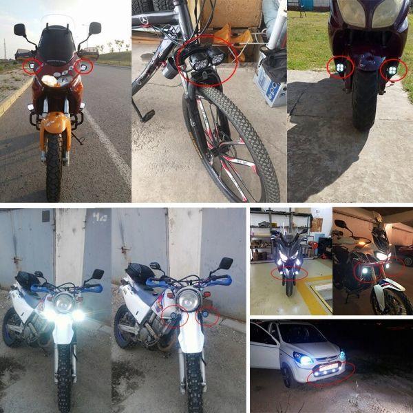 ☆お勧めします☆オートバイ 8ワット 8W LED ヘッドライト バイク スクーター ランプ フォグ ランニングライト スポットライト 汎用品 _画像6