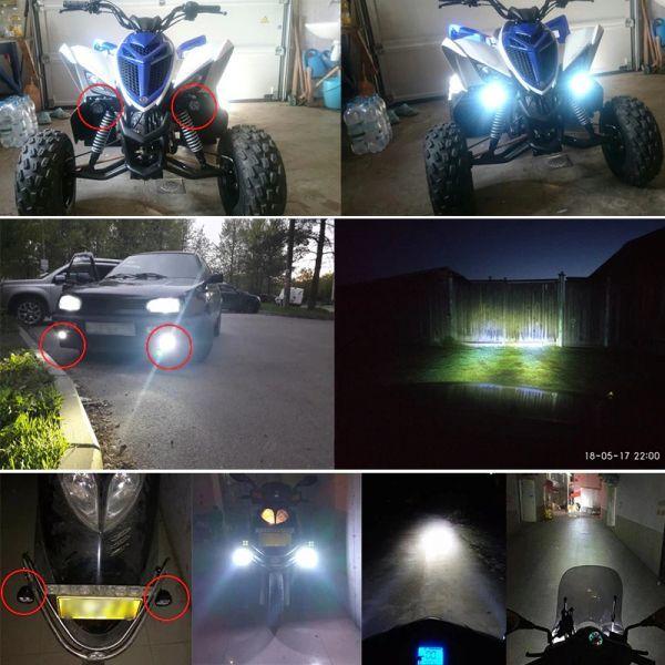 ☆お勧めします☆オートバイ 8ワット 8W LED ヘッドライト バイク スクーター ランプ フォグ ランニングライト スポットライト 汎用品 _画像4