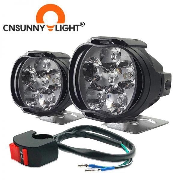 ☆お勧めします☆オートバイ 8ワット 8W LED ヘッドライト バイク スクーター ランプ フォグ ランニングライト スポットライト 汎用品 _画像1