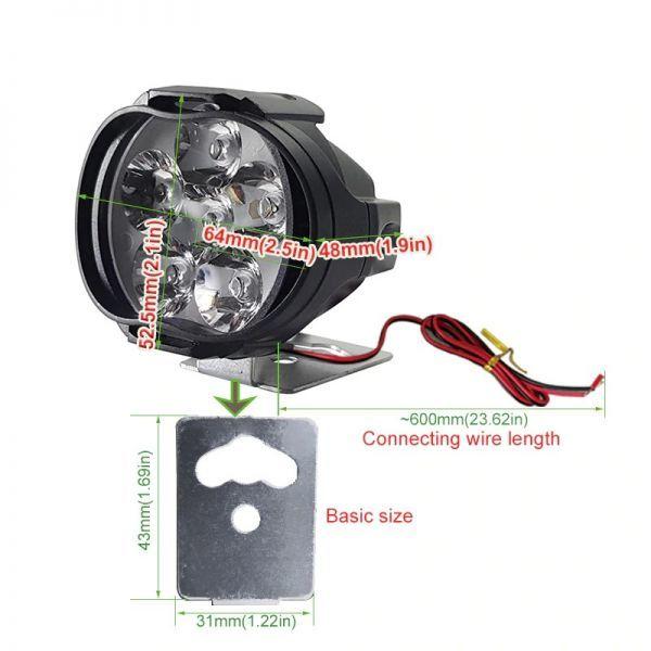 ☆お勧めします☆オートバイ 8ワット 8W LED ヘッドライト バイク スクーター ランプ フォグ ランニングライト スポットライト 汎用品 _画像2