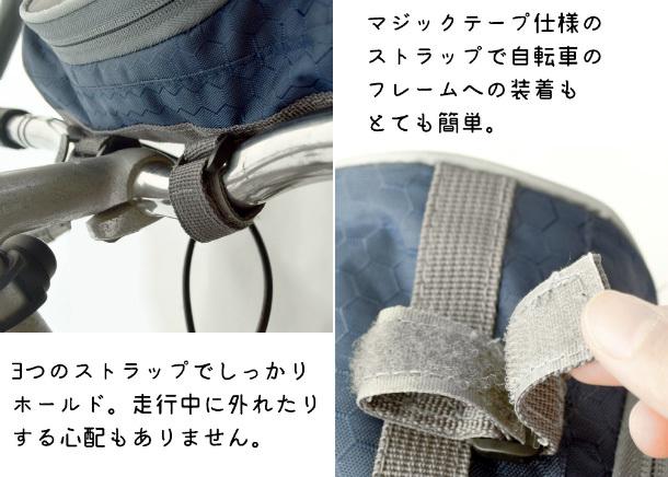 訳有 2WAY自転車用バッグ/ブラック フロントバッグ ハンドルバッグ サイクル ポーチ 防水ケース ショルダーバッグ_画像4