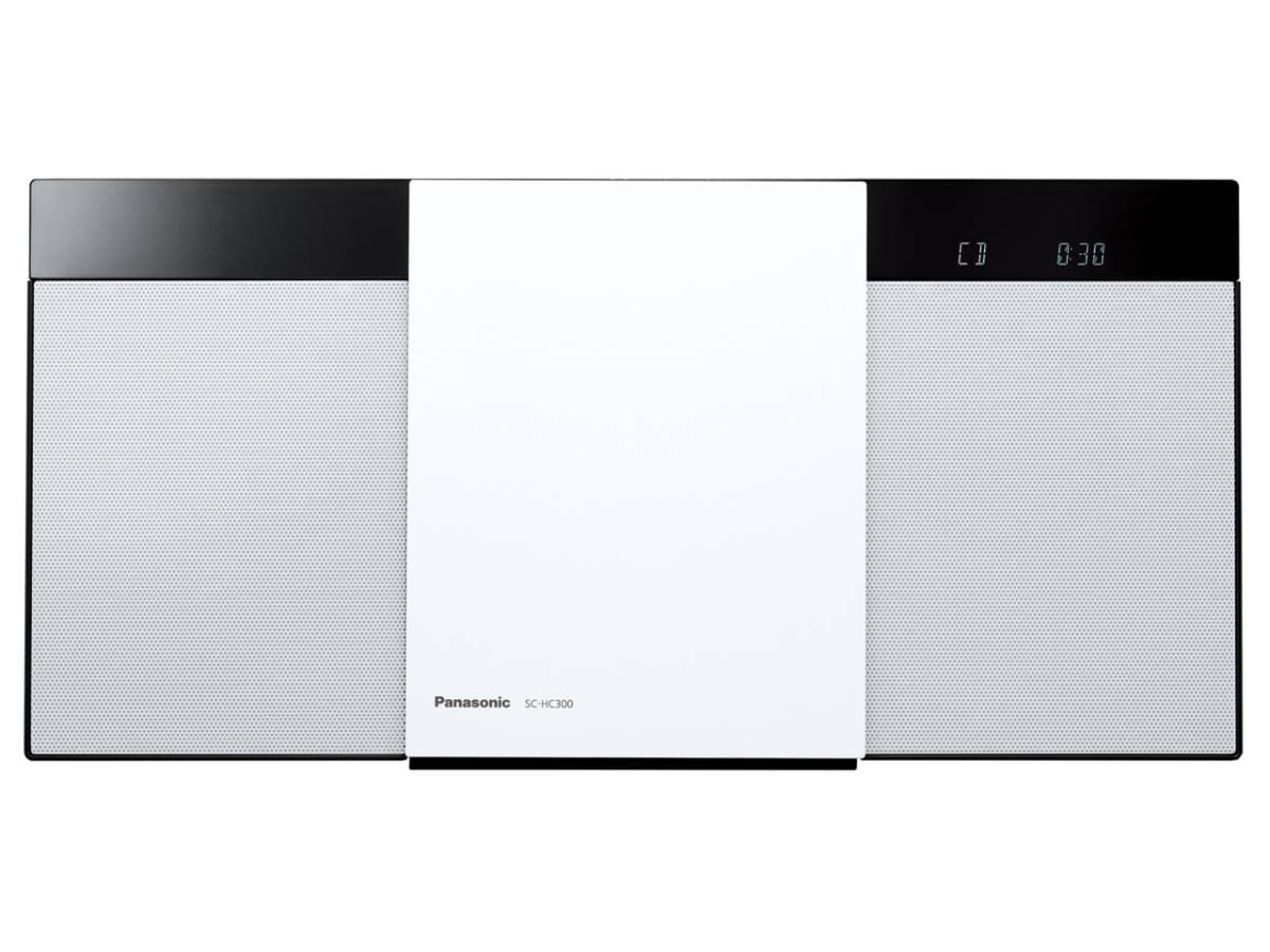 ☆彡パナソニック Panasonic SC-HC300-W [ホワイト] 展示品1年保証 コンパクトステレオシステム 幅広い音源の再生が可能 VS_画像1