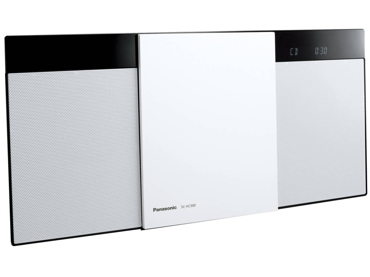 ☆彡パナソニック Panasonic SC-HC300-W [ホワイト] 展示品1年保証 コンパクトステレオシステム 幅広い音源の再生が可能 VS_画像2