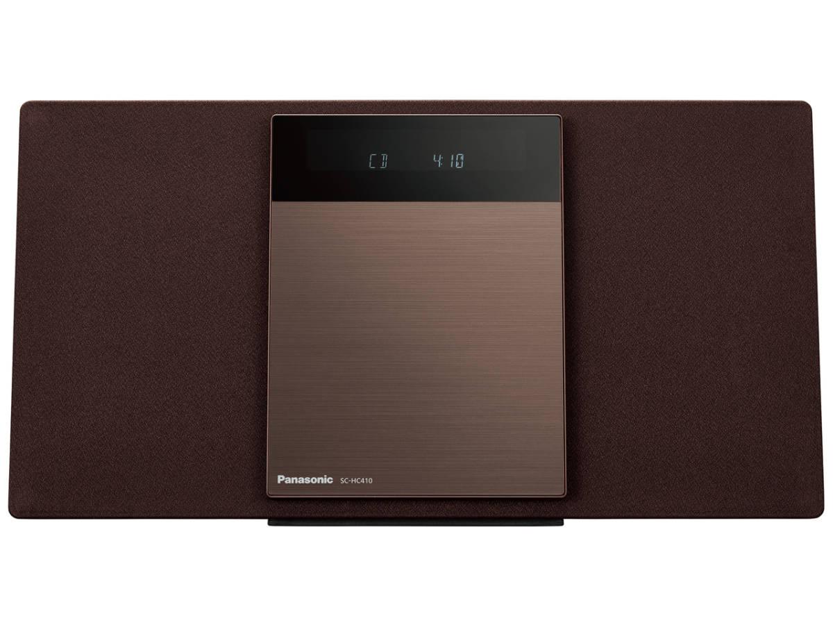☆彡パナソニック Panasonic SC-HC410-T[ブラウン] 展示品1年保証 コンパクトステレオシステム 高音質な薄型 QB_画像1