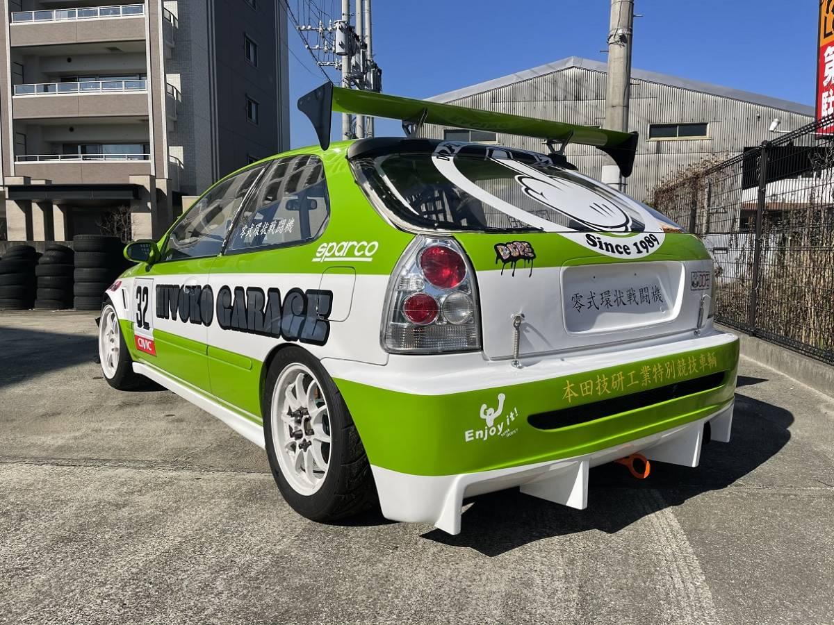 HONDA ホンダ シビック タイプR EK9 白/緑 CIVIC 改造多数 低走行 サーキット専用 レース 環状 USDM JDM_画像4