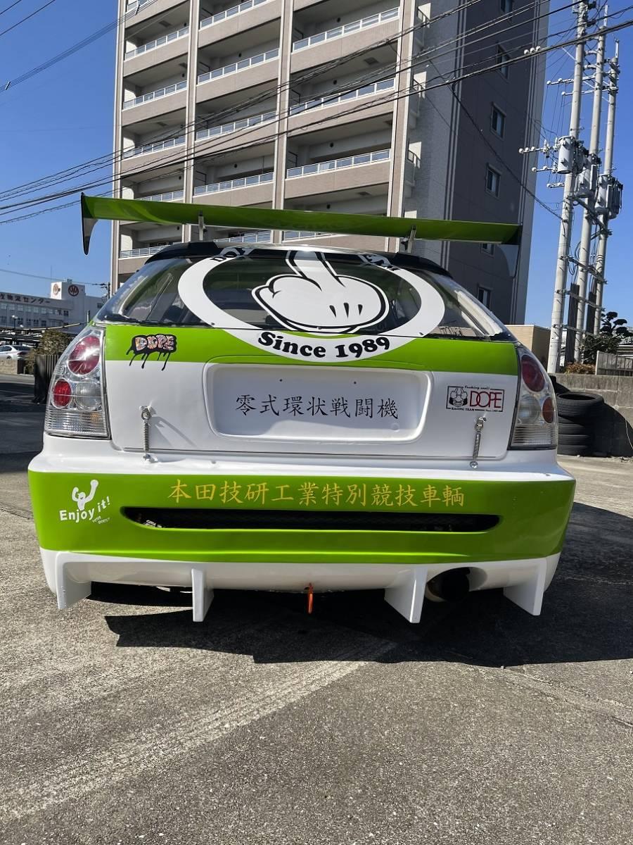 HONDA ホンダ シビック タイプR EK9 白/緑 CIVIC 改造多数 低走行 サーキット専用 レース 環状 USDM JDM_画像5