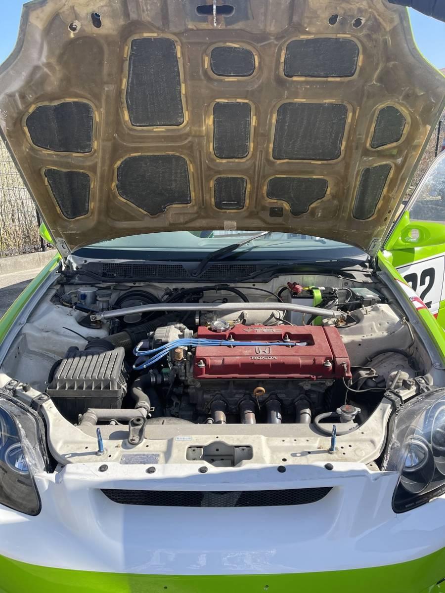 HONDA ホンダ シビック タイプR EK9 白/緑 CIVIC 改造多数 低走行 サーキット専用 レース 環状 USDM JDM_画像10