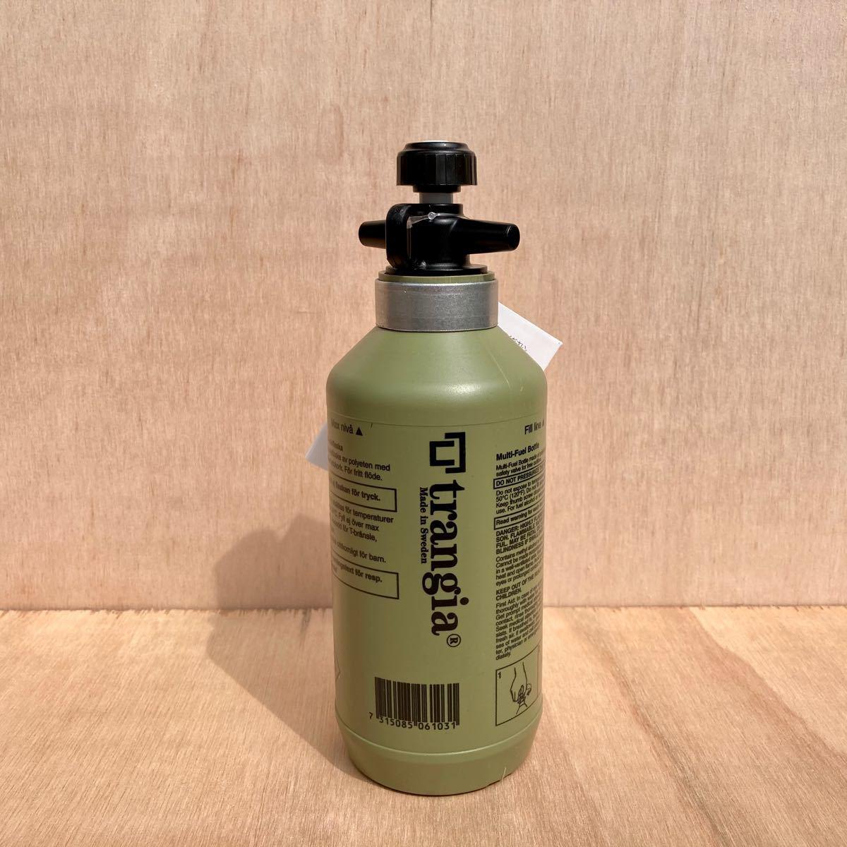 国内代理店品 新品 未使用 trangia トランギア フューエルボトル 0.3L オリーブ 燃料ボトル TR-506103