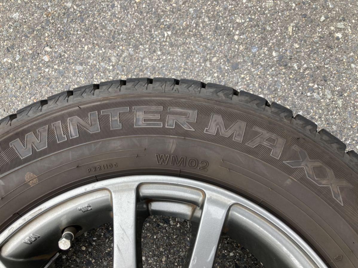 【中古】スタッドレスタイヤ DUNLOP WINTER MAXX 145/80R13 アルミホイール付き 4本セット 4~5分山_画像3