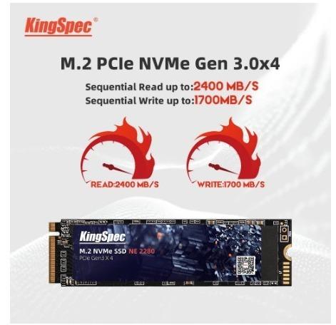 【送料無料】1724 SSD KingSpec M.2 NVMe PCI-E 128GB 新品未開封 高速 2280 TLC 内蔵型 NE-512_画像2