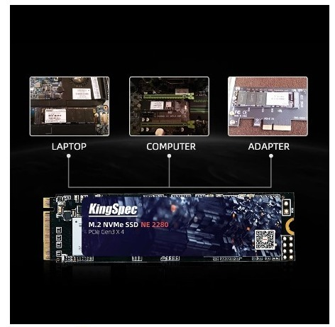【送料無料】1724 SSD KingSpec M.2 NVMe PCI-E 128GB 新品未開封 高速 2280 TLC 内蔵型 NE-512_画像4