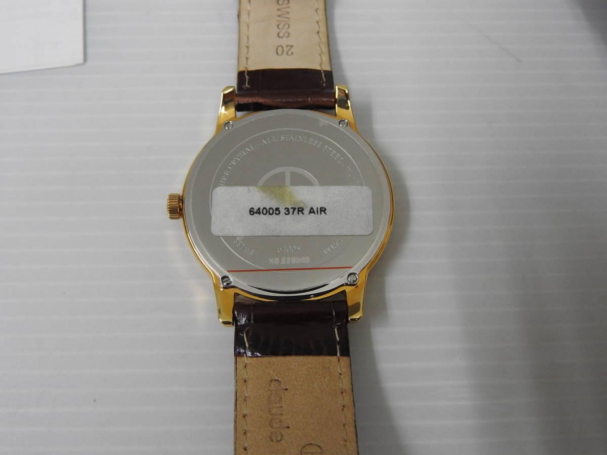 ☆美品 claude bernard クロード・ベルナール メンズ腕時計 64005 37R AIR 稼働確認済 BOX付き ☆_画像4