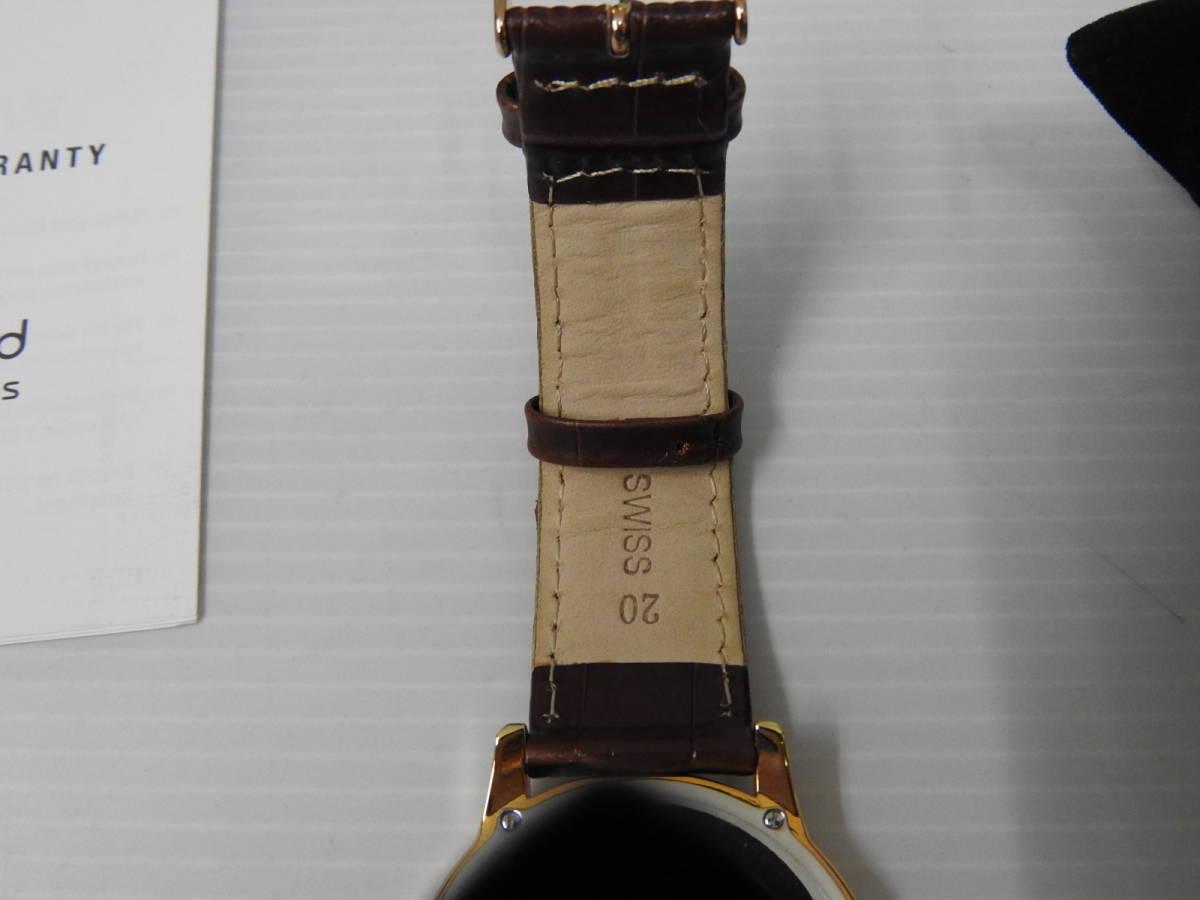 ☆美品 claude bernard クロード・ベルナール メンズ腕時計 64005 37R AIR 稼働確認済 BOX付き ☆_画像5