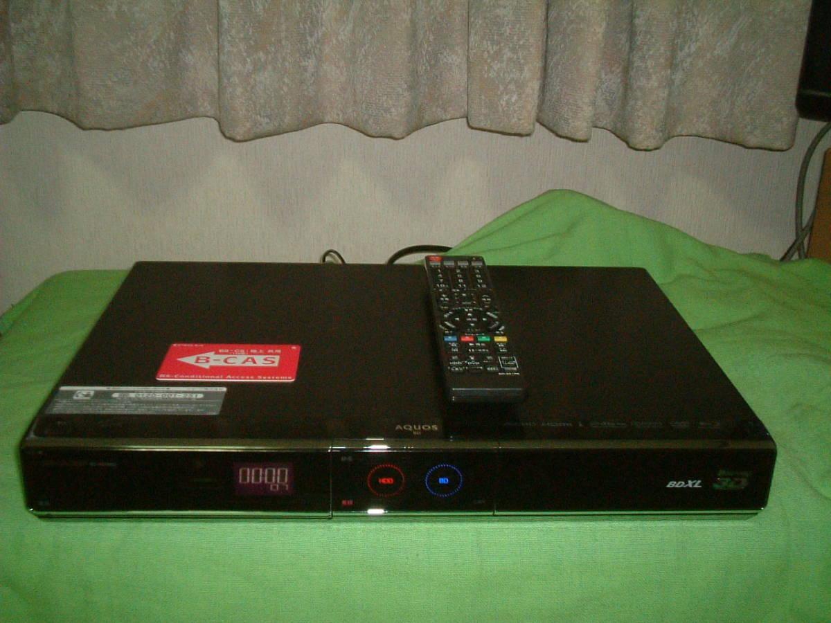 1ヶ月保証 シャープ BD-HDW65  HDD/DVD/ブルーレイ/ レコーダー 2番組同時録画 500GB 新品リモコン  B-CASカード付き_画像1