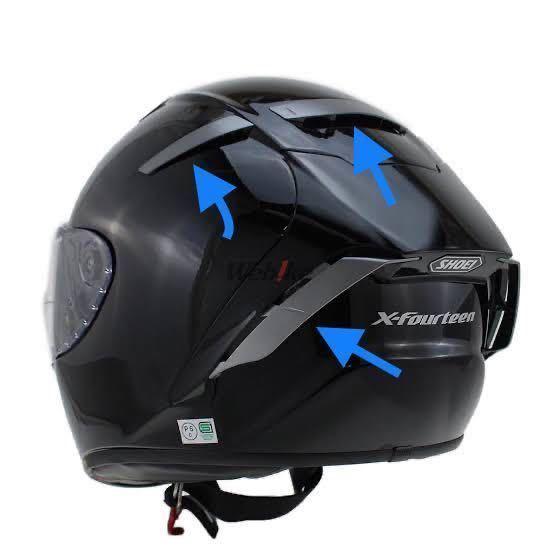 SHOEI フラップ デカール パールホワイト シール ステッカーキット X14 X-FOURTEEN ヘルメット_画像3