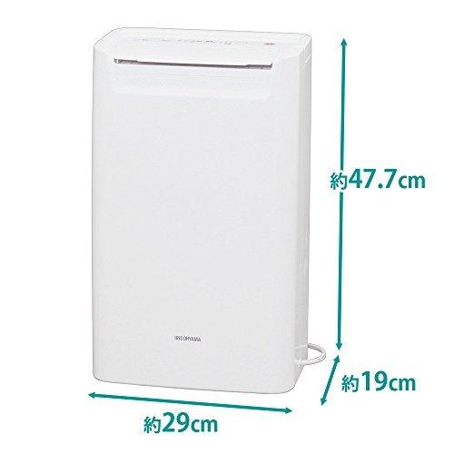 ホワイト 1)タンク容量1.8L アイリスオーヤマ 衣類乾燥除湿機 タイマー付 除湿量 6.5L コンプレッサー方式 DCE-6_画像7