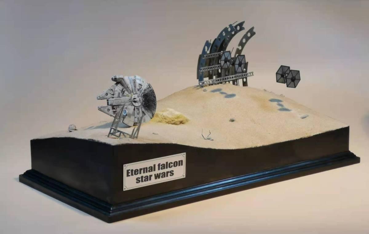ジオラマ 1/350スケール スターウォーズ ミレニアムファルコンの追い討ち オリジナル製作_画像1