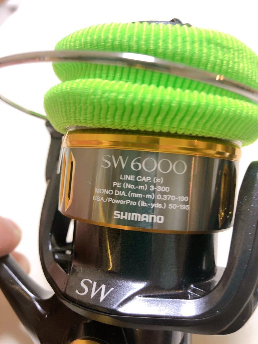美品 16 ツインパワーSW 6000XG シマノ SHIMANO PEライン付き_画像8