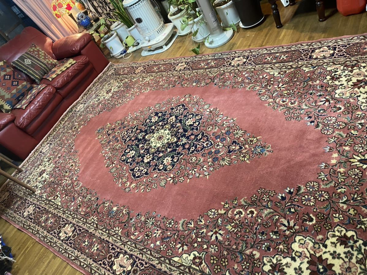 マルコポーロも東方見聞録で絶賛700年以上の歴史トルコ手織ラディック絨毯厚みもある大変素敵な絨毯!破格より!通関済日本発送