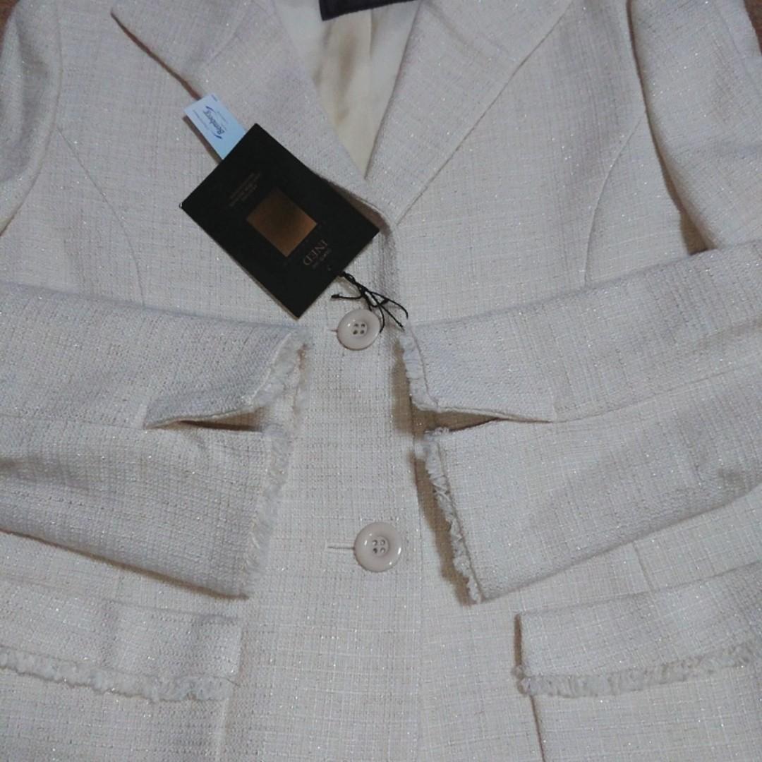 INED ツイード ジャケット  テーラードジャケット