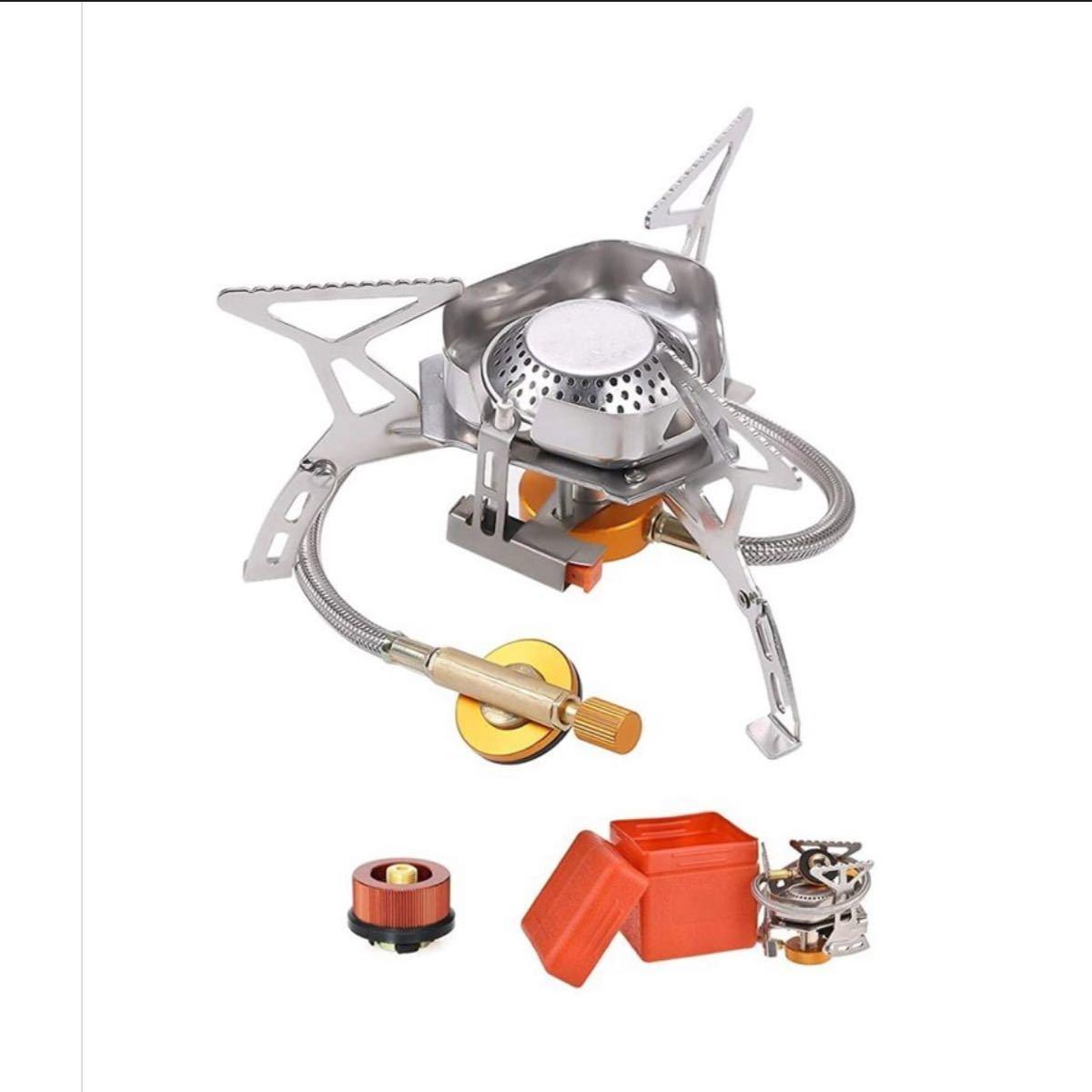 シングルバーナー CB缶/OD缶対応 防風 変換アダプター付き