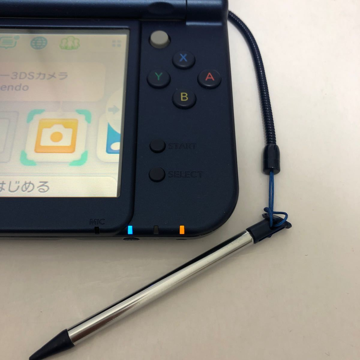Newニンテンドー3DS LL メタリックブルー 本体 タッチペン