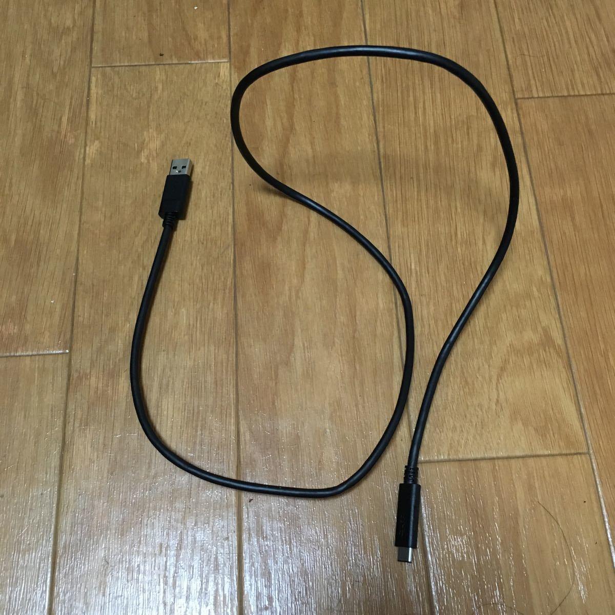 【USB3.1ケーブル】1.0m USB Type-C搭載のハードディスクに利用可能【最大3A・最大10Gbps対応】