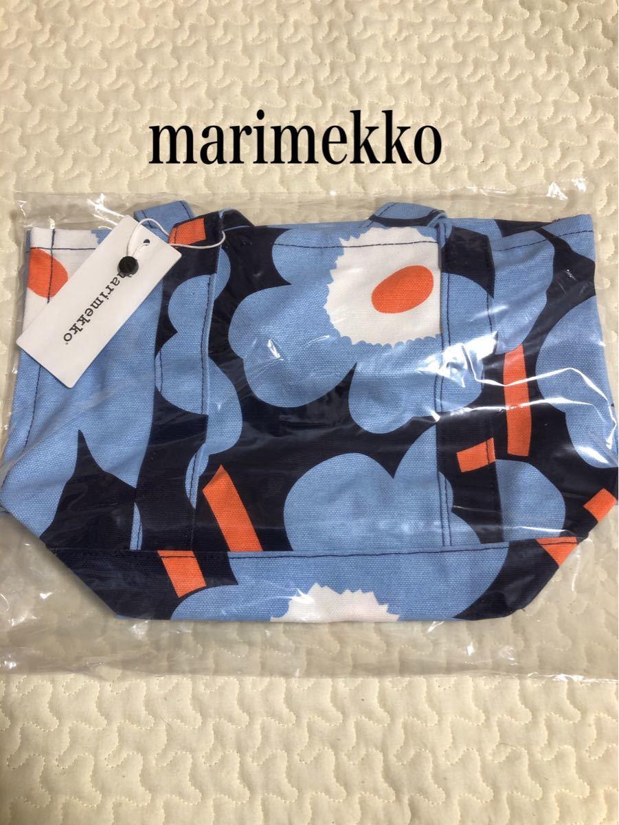 マリメッコ ウニッコ ミニトートバッグ ハンドバッグ ブルー 青 北欧