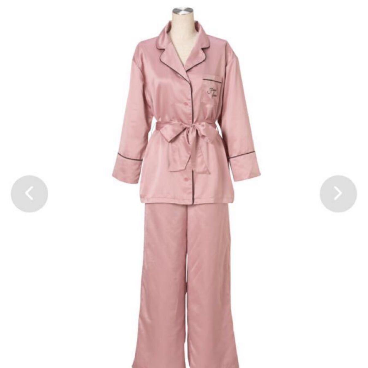 フランフラン ロゴ刺繍パジャマ ピンク