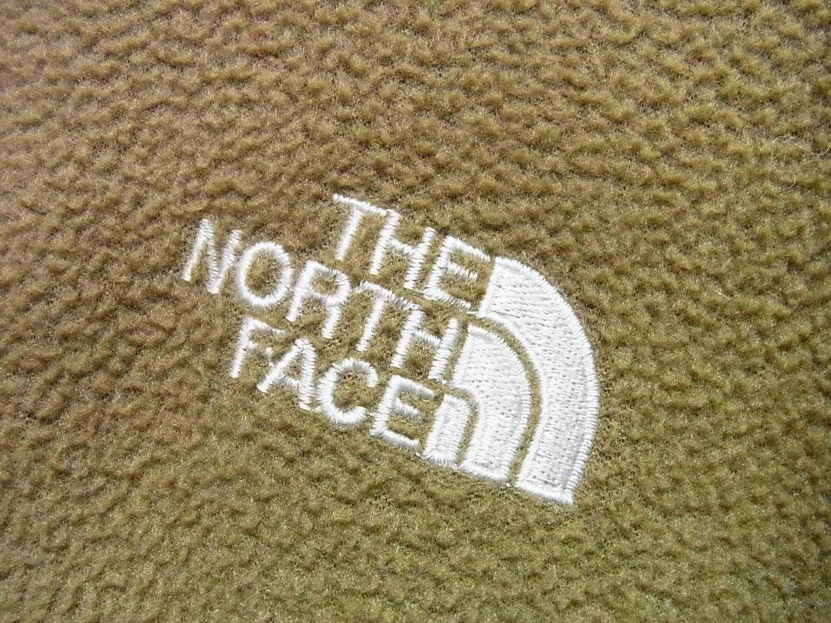 アメリカ製 THE NORTH FACE ザノースフェイス ジップアップ フリースジャケット カーキ サイズS_画像4