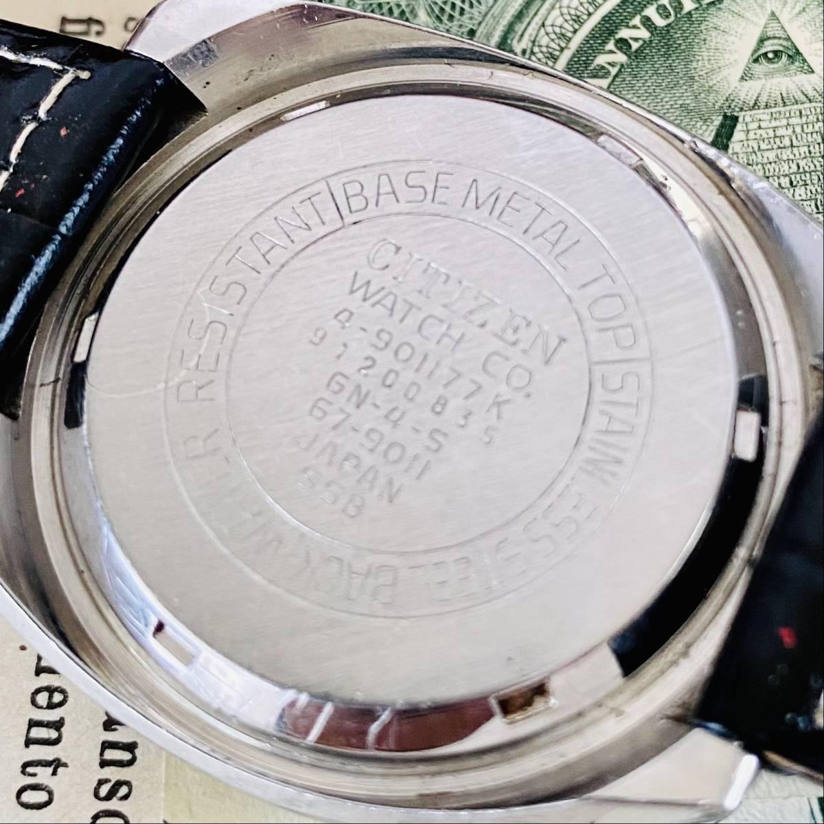 【高級腕時計 シチズン】CITIZEN 8110A クロノグラフ 自動巻 1979年 デイデイト ツノ メンズ レディース アナログ パンダ チャレンジ_画像10