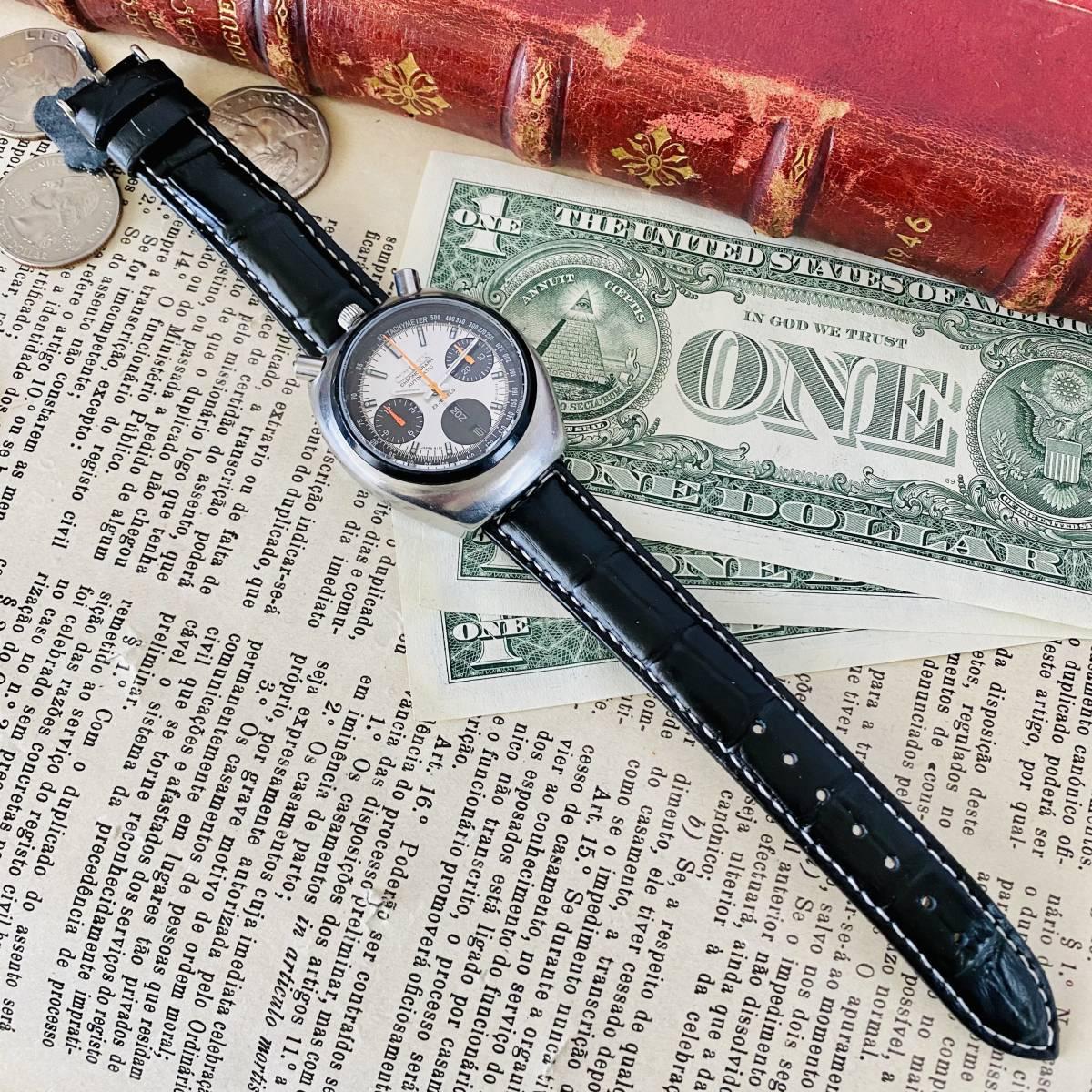 【高級腕時計 シチズン】CITIZEN 8110A クロノグラフ 自動巻 1979年 デイデイト ツノ メンズ レディース アナログ パンダ チャレンジ_画像8