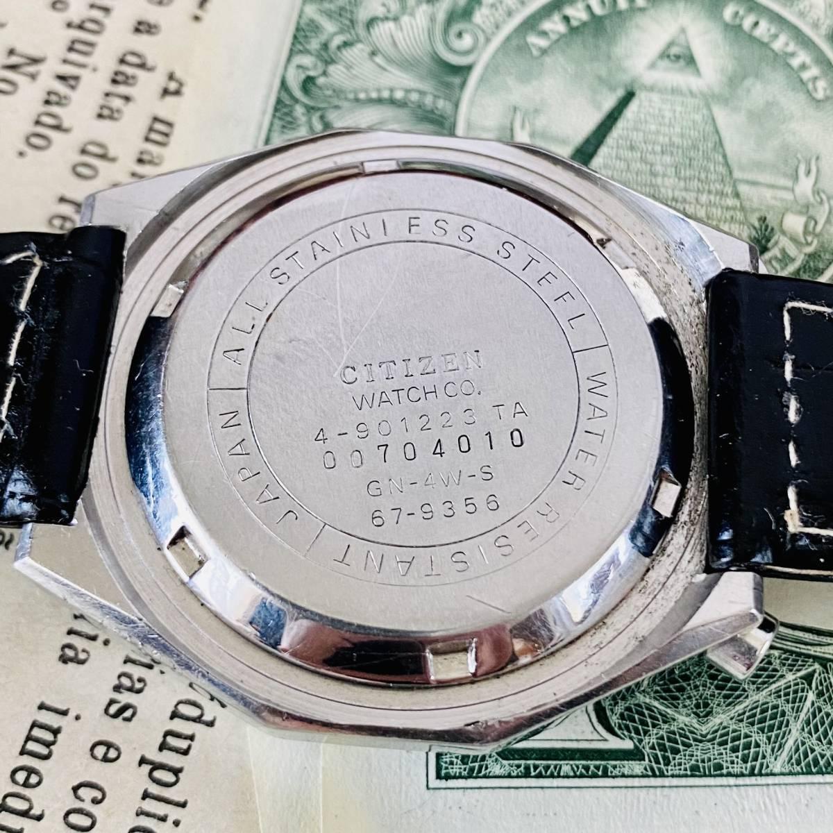 【高級時計 シチズン】CITIZEN 8110A クロノグラフ 自動巻 1980年代 ツノ メンズ レディース ビンテージ アナログ 腕時計パンダ チャレンジ_画像9