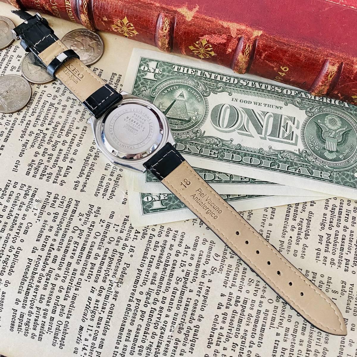 【高級時計 シチズン】CITIZEN 8110A クロノグラフ 自動巻 1980年代 ツノ メンズ レディース ビンテージ アナログ 腕時計パンダ チャレンジ_画像8