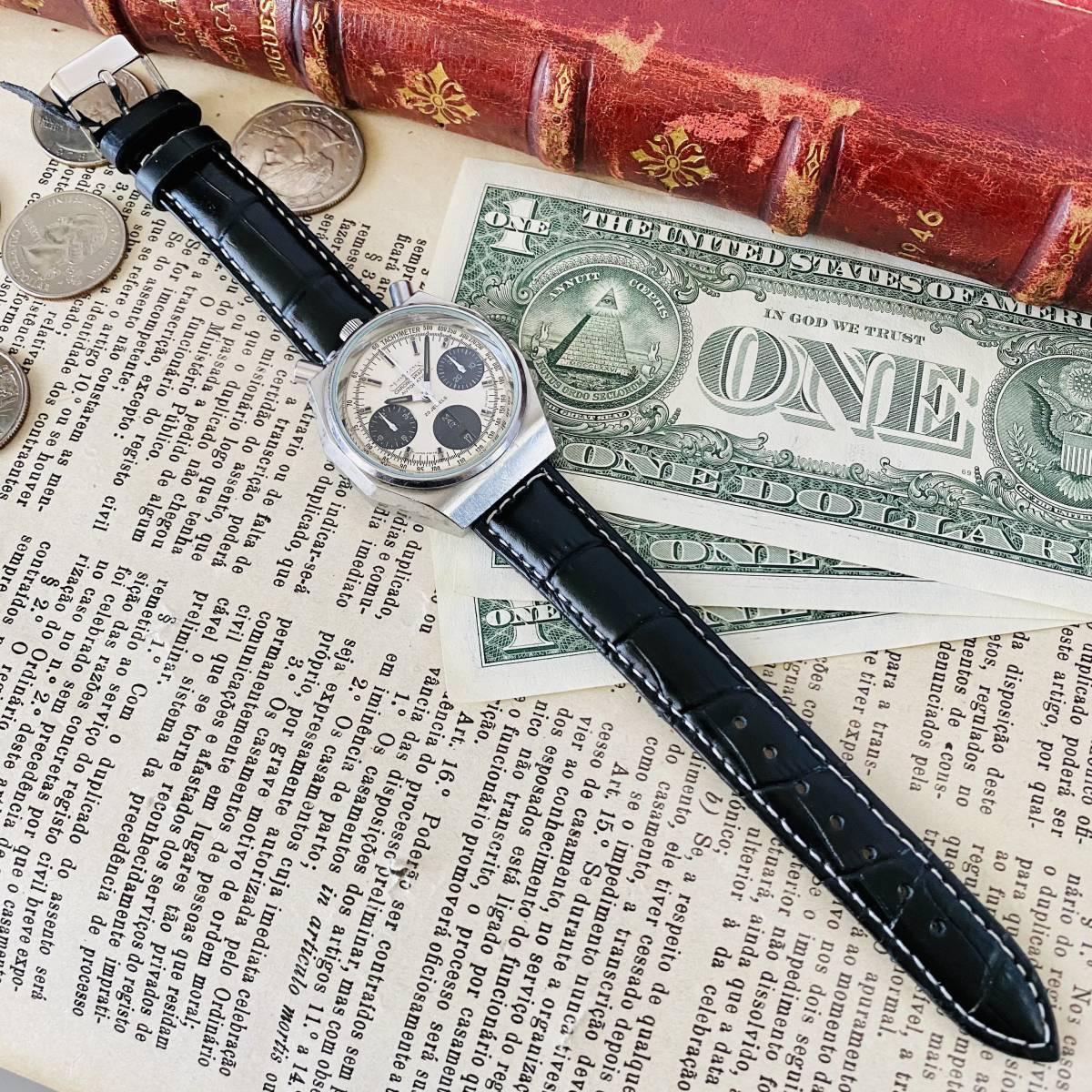 【高級時計 シチズン】CITIZEN 8110A クロノグラフ 自動巻 1980年代 ツノ メンズ レディース ビンテージ アナログ 腕時計パンダ チャレンジ_画像7