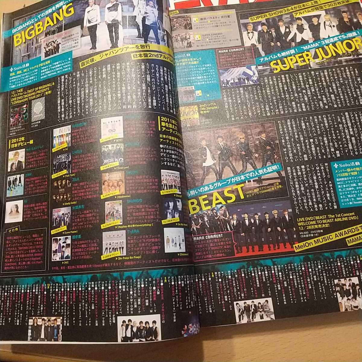 TVガイド 関東版 2011-2012 お正月特大号 嵐 芦田愛菜 ワイド6面 ピンナップ 2PM K-POP Kis-My-Ft2 BIGBANG ジャニーズ