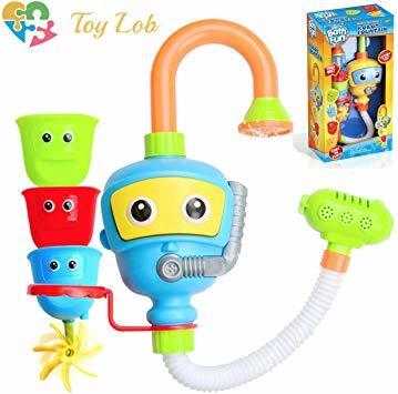 イエロー お風呂玩具 (Toy 水遊び シャワー お風呂 バストイ おもちゃ ウォーター 幼児 噴水 Lob) 子供 赤ちゃん_画像1