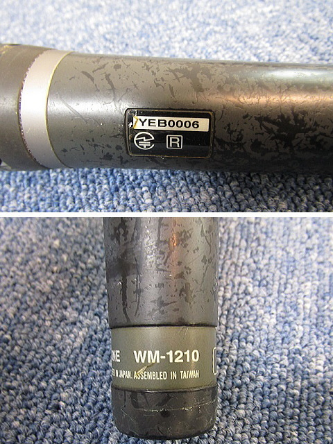 TOA ワイヤレスマイク【中古品】WM-1210 ハンド型 マイクロホン PLLシンセサイザー方式 _画像4