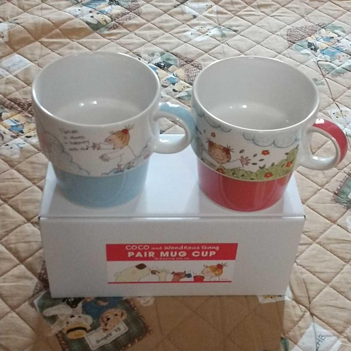 新品 COCOちゃん ココちゃん スタッキング ペアマグカップ セット お祝い_画像5